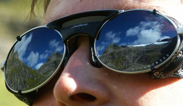 Tolle Aussicht: den Kolåsbreen Gletscher fest im Blick. (Foto Karsten-Thilo Raab)