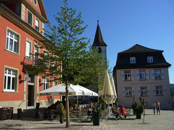Eine der vielen schmucken Plätze in Müllheim_ Der Markgräfler Platz. (Foto Müllheim Touristik)