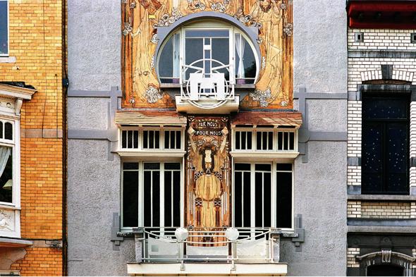 Zu den vielen prächtigen Jugendstil- und Art-Déco-Gebäuden in Brüssel zählt auch die Maison Cauchie. (Foto Visit Brussels)