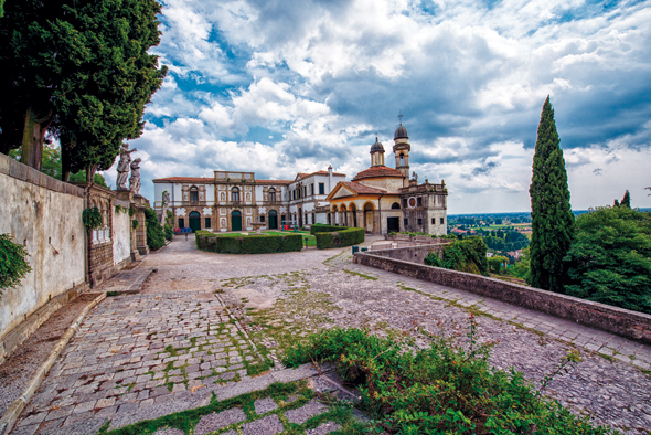Lohnenswertes Ziel vor den Toren von Padua: Monselice. (foto L-Abano Grand Hotel)