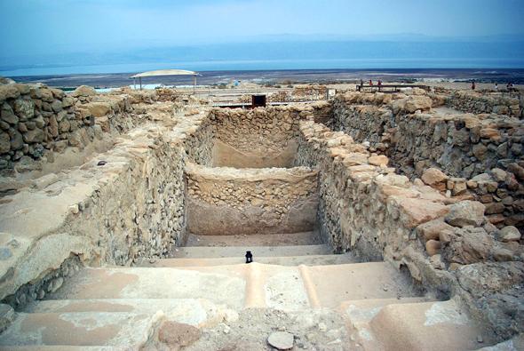 Im wahrsten Sinne des Wortes ein biblischer Ort: Qumran, Fundort der berühmten Schriftrollen. (Foto Berthold Werner)