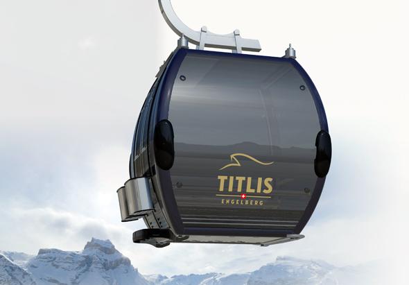 Mit dem neuen Titlis Xpress fahren Wintersportler in Engelberg ab Dezember 2015 in gut 15 Minuten auf die Piste. (FotoVisualisierung FelderVogel)
