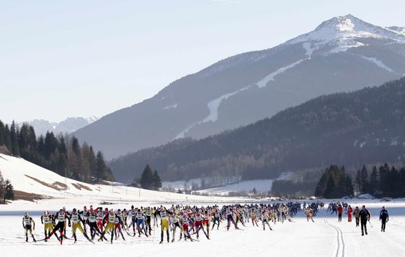 Der Granfondo Cortina-Dobbiaco wurde in seiner Bedeutung international aufgewertet. (Foto Foto: Cortina Turismo)