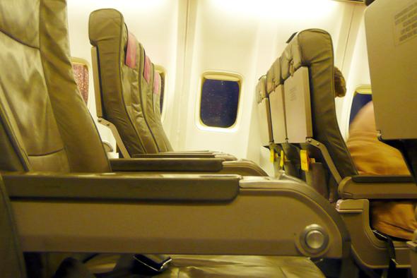 In punkto Sitzkomfort hinken die deutschen Airlines im internationalen Vergleich deutlich hinterher. (Foto Stihl024/Pixelio)