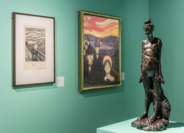 Erstmals wird in Oslo das Werk von Edward Munch und Vigeland in einer gemeinsamen Ausstellung präsentiert. (Foto Munch-Museum)