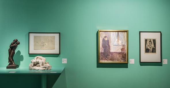 """Munchs Werke wie """"Der Kuss"""" sind ebenfalls in der spektakulären Ausstellung zu sehen. (Foto Munch-Museum)"""