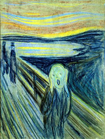 """Darf natürlich nicht fehlen: Edvard Munchs berühmtes Bild """"Der Schrei"""". (Foto Munch-Museum)"""
