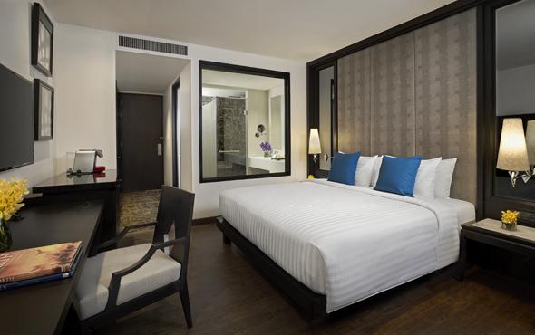Insgesamt 297 Zimmer und Suiten hält das Mövenpick Sukhumvit in Bangkok vor.