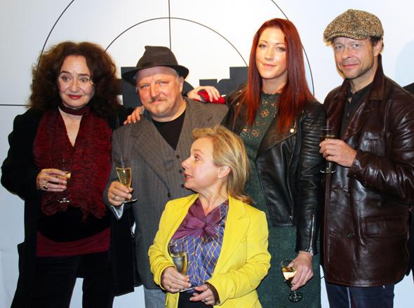 Stellten den neuen Tatort vor: (v.l.) Mechthild Großmann, Axel Prahl, ChrisTine Urspruch, Jessica Honz und Regisseuer André Erkau. (Foto Karsten-Thilo Raab)