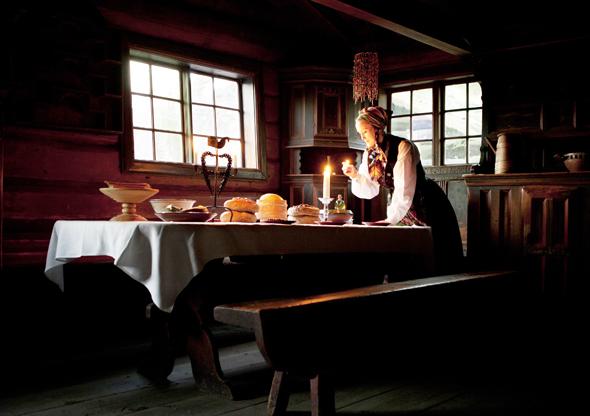 Das Norsk Folkemuseum lädt in seinen Häusern zu einer spannenden, weihnachtlichen Zeitreise ein. (Foto Laila Duran)