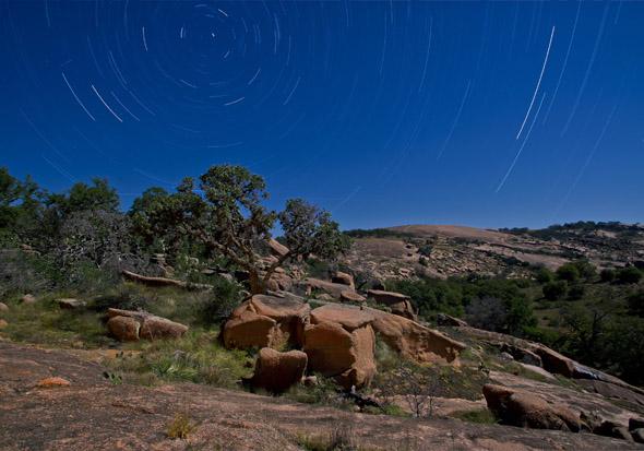 Auch der Enchanted Rock State Park weiß nicht nur Astronomen in seinen bann zu ziehen.