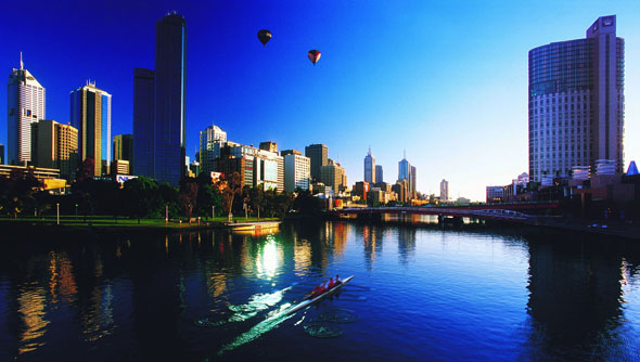 Stadtbildprägend: der Yarra River.