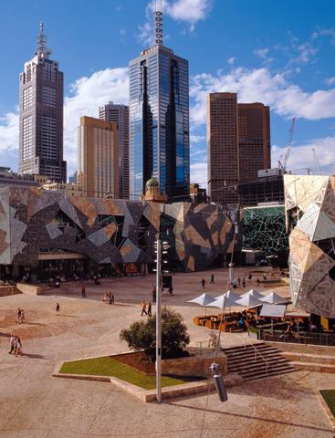 Rundumblick auf den Federation Square.