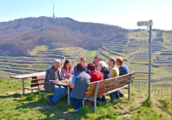 In den Weinbergen zwischen Freiburg und Rhein lassen sich Aktivsein und Genuss ideal miteinander verbinden.
