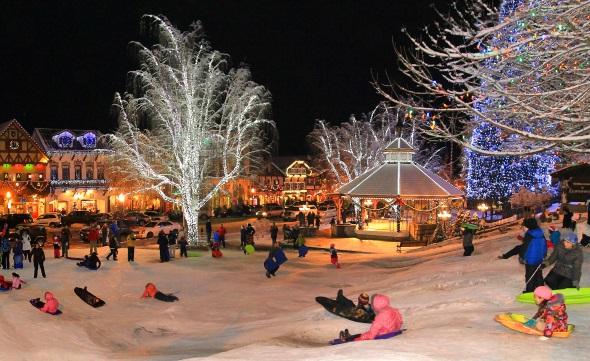 """In Leavenworth heißt es auch """"Ski und Rodeln gut"""". (Foto: Brian Munoz)"""