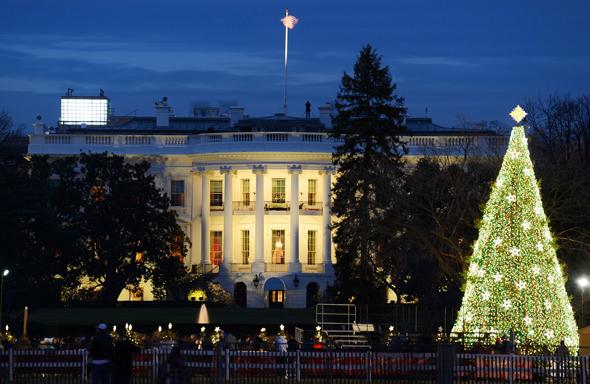 """Stolz einer Nation: der """"National Christmas Tree"""" vor dem Weißen Haus. (Foto Destination DC)"""