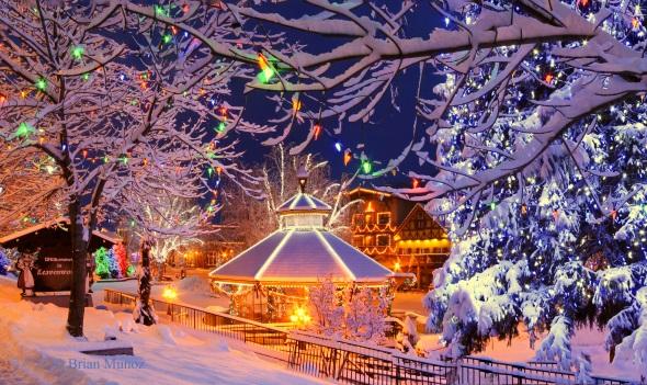 Ein perfekter amerikanischer Wintertraum: Leavenworth vor den Toren von Seattle. (Foto Brian Munoz)