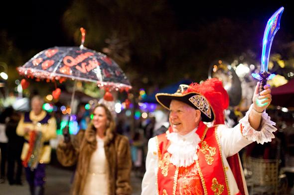 Der Mardi Gras ist auch in diesem Teil Floridas ein gigantisches Straßenfest.
