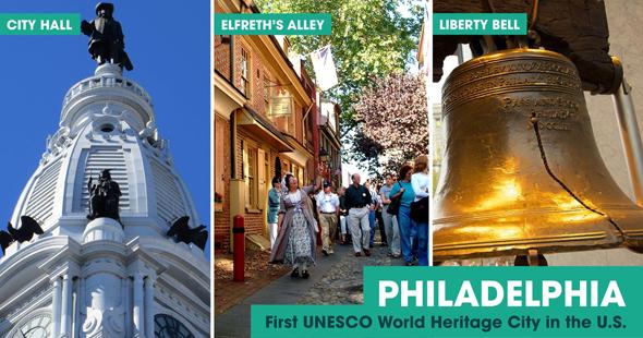 Mit Stolz zeigt Phildelphia, dass es nun zu den World Heritage Cities gehört. (Foto PHL CVB)