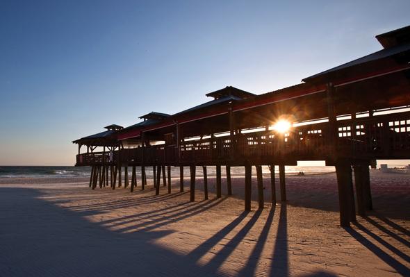 Die 43 Kilometer Strand von Panama City Beach sind mit durchschnittlich 320 Sonnentagen im Jahr gesegnet.