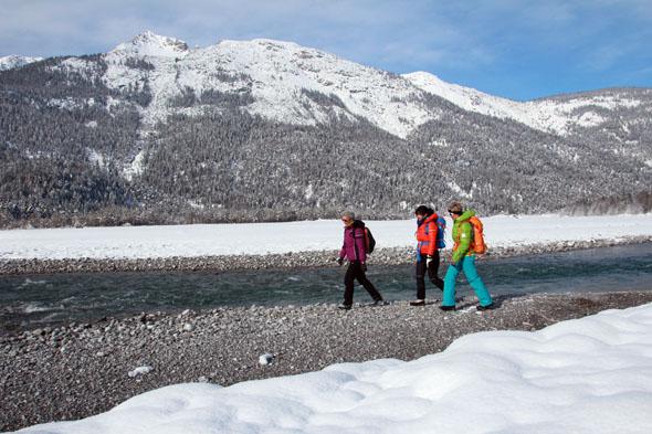 Europas letzte Wildfluß-Landschaft im Lechtal lädt auch im Winter zu herrlichen Wanderungen ein. ( FotoGerhard Eisenschink)