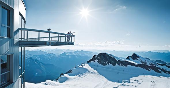 """Traumhafte An- und Aussichten garantiert das """"Top of Salzburg). (Foto Kitzsteinhorn)"""