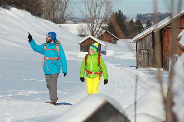 Eine von fünf herrlichen Winterwanderungen in Pfronten im Allgäu: die Finstertalrunde (Fotos G. Eisenschink)