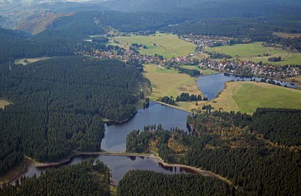 Teichanlagen des Oberharzer Wasserregals bei Buntenbock südlich von Clausthal-Zellerfeld. (Foto Harzer Tourismusverband)