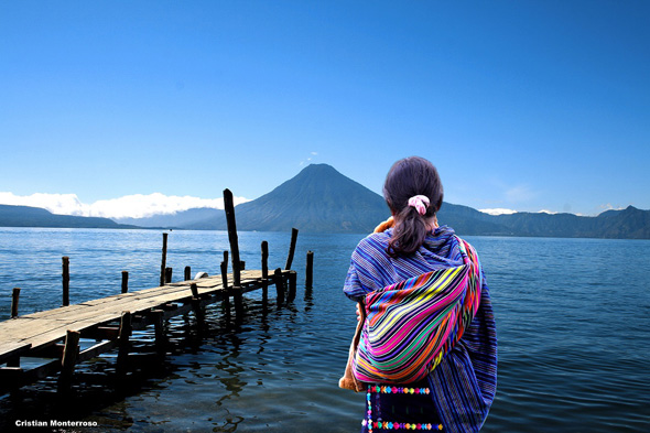 Traumkulisse in Guatemala: der Lago de Atitlán.