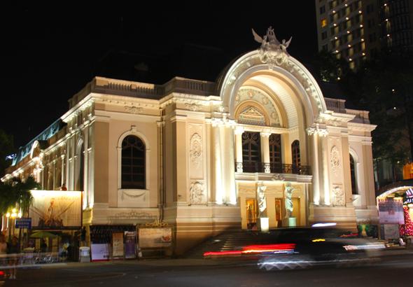 Klingender Tempel in Ho Chi Minh City: die alte Oper. (Foto Karsten-Thilo Raab)