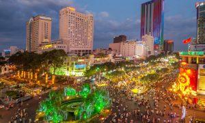 Famoses Straßenkino in Ho Chi Minh City