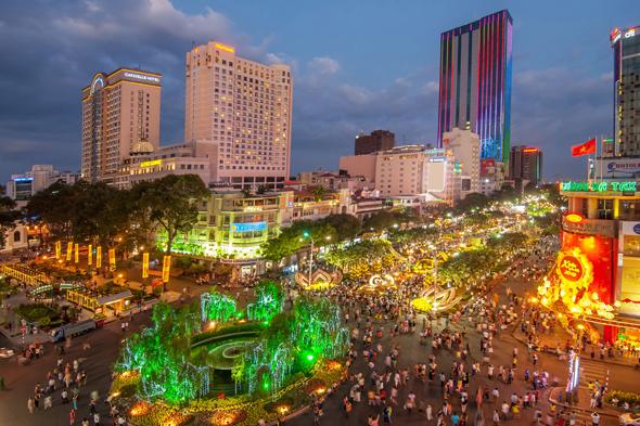 Auf den Straßen von Ho Chi Minh City herrscht fast rund um die Uhr ein Gewusel wie in einer Ameisenstraße.