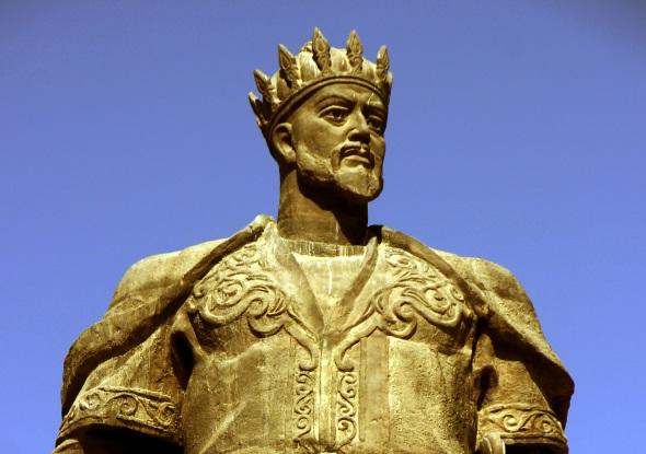 Volksheld mit Eroberer-Gen: Amir Temur, dem in Sharisabz ein Denkmal gesetzt wurde. (Foto Karsten-Thilo Raab)