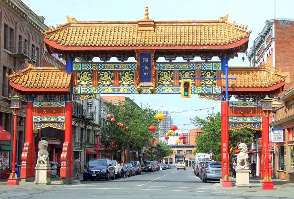Eingangstor zu Chinatown in Victoria. (Foto Katharina Büttel)