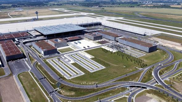 Noch gibt es auf dem BER keine Flugbewegungen. (Foto Günter Wicker, Flughafen Berlin Brandenburg)