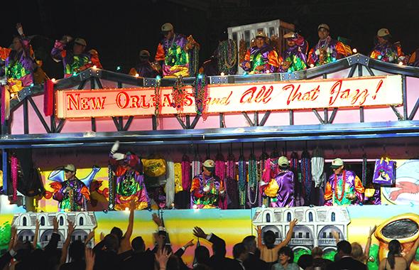 Die Floats, die bunten Mottowagen, sind fester Bestandteil eine jeder Mardi Gras Parade. (Fotos NOCVB)