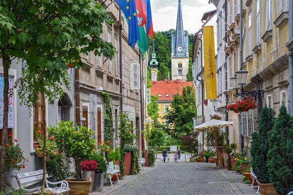 Verträumte Gassen und mittelalterliche Häuser prägen das Gesicht von Ljubljana. (Foto D. Wedam)