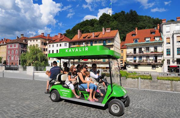 Kavalire der Straße haben in Ljubiljana sogar Räder. (Foto D. Wedam)