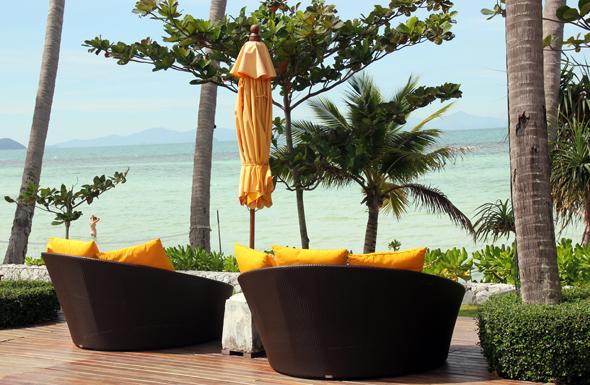 Herrliche An- und Aussichten bieten sich von der Pool Bar aus auf den Golf von Thailand. (Foto Karsten-Thilo Raab)