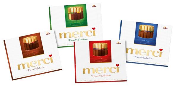 Schmackhafte Vielfalt von Merci - mit etwas Glück kommt diese sogar rechtzeitig vor dem Valentinstag frei Haus.
