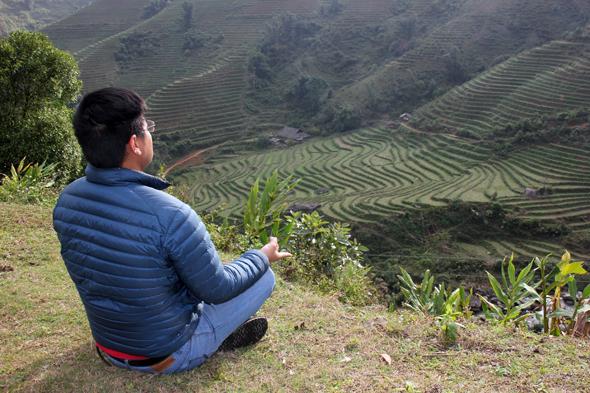 Fast schon meditativ schön: Ein Blick auf die Reisterrassen bei Ta Van. (Foto Karsten-Thilo Raab)