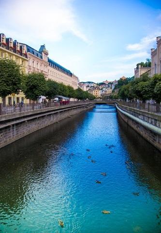 Charmanter Kurort: das tschechische Karlsbad.