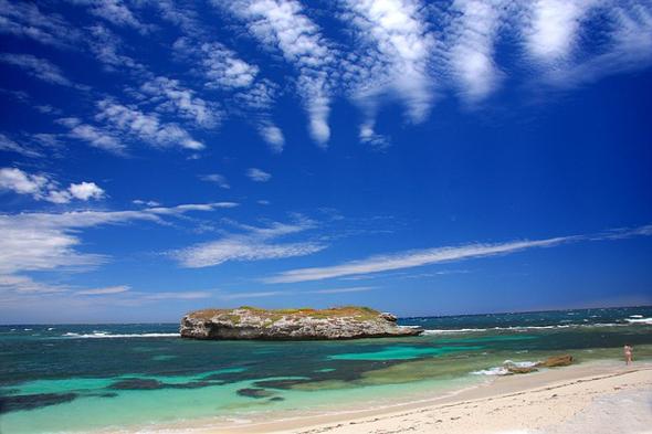 Traumhafte Strände prägen das Inselparadies vor den Toren von Perth.