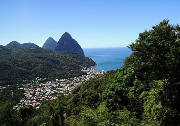 Saint Lucia gehört zu den Inselschönheiten der Kleinen Antillen.