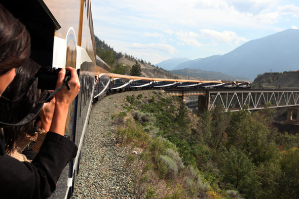 Dem Fotografenauge entgeht auf der Strecke nach Banff (fast) nichts.
