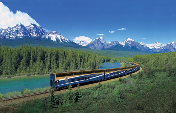 Bewegter Traum: eine Reise mit dem Luxuszug Rocky Mountaineer durch die Bergwelt in Kanada.