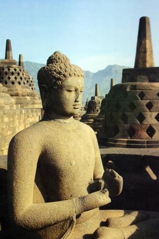 Eine der prächtigsten Tempelanlagen Indonesiens: Borobodur.