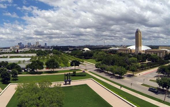 Der Clutural District von Forth Worth betsicht durch seine großzügige Gestaltung. (Foto Fort Worth CVB)