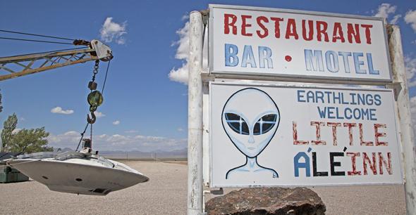 Treffpunkt der Außerirdischen-Jäger am Extraterrestrial Highway: das Little A'LE'INN.