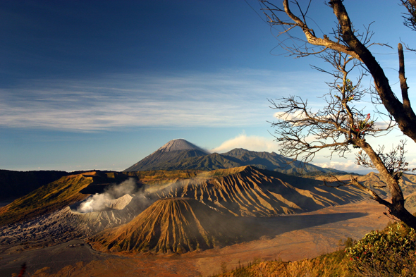 Auch auf Java gibt es traumhafte An- und Aussichten zum Genießen wie hier den Mount Bromo.